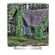 Cabin At Cooks Station Shower Curtain