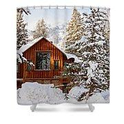 Cabin In Snow Shower Curtain