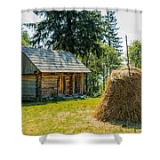 Cabin In The Shadow Shower Curtain