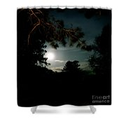 Cabin Moon Shower Curtain