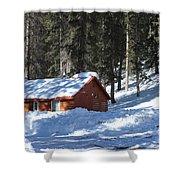 Cabin On Grand Mesa Co Shower Curtain