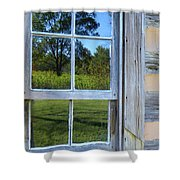 Cabin Reflections Shower Curtain