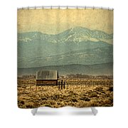 Cabin With Mountain Views Shower Curtain
