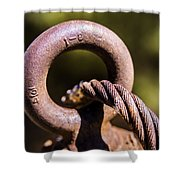 Cable And Eyebolt Shower Curtain