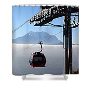 Cable Car Above The Andes Shower Curtain