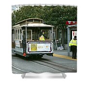 Cable Car At Fisherman's Wharf Shower Curtain