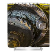 Cable Car Brake Close Up Shower Curtain