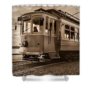 Cable Car In Porto Portugal Shower Curtain