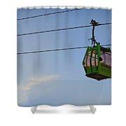 Cable Car In Zaragoza Shower Curtain