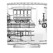 Cable Car Patent, 1873 Shower Curtain