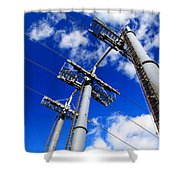 Cable Car Pillars Shower Curtain
