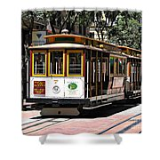 Cable Car - San Francisco Shower Curtain