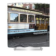 Cable Car Turn-around At Fisherman's Wharf No. 2 Shower Curtain