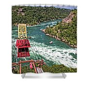 Cable Car Whitewater Shower Curtain