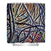 Cable Jungle Shower Curtain