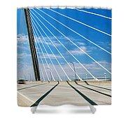 Cable-stayed Bridge, Arthur Ravenel Jr Shower Curtain