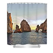 Cabo San Lucas Arch Sunset Shower Curtain