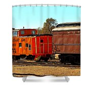Caboose And Car Shower Curtain