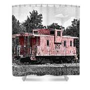 Caboose At Rest Shower Curtain