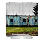 Caboose On A Farm Shower Curtain