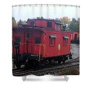 Caboose On The Tracts Shower Curtain