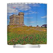 Cabot Tower In Signal Hill National Historic Site In Saint John's-nl Shower Curtain