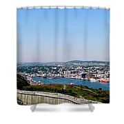 Cabot Tower Overlooking The Port City Of St. John's Shower Curtain