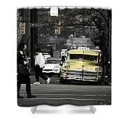 Cabs Here Shower Curtain