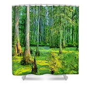 Cache River Swamp Shower Curtain