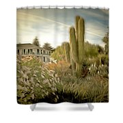 Monterey California Cactus Garden Shower Curtain