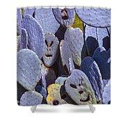 Cactus Faces Shower Curtain