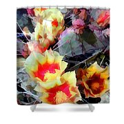 Cactus Flowers Bright And Prickly Shower Curtain