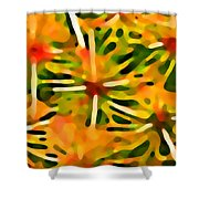 Cactus Pattern 3 Yellow Shower Curtain