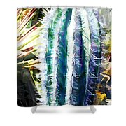 Cactus Pillar Shower Curtain