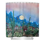 Cactus Valley Shower Curtain