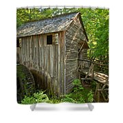 Cades Cove Grist Mill Closeup Shower Curtain