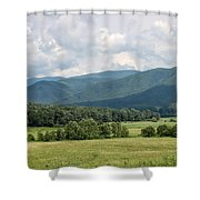 Cades Cove In Summer Shower Curtain by Todd Blanchard