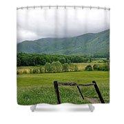 Cades Cove Mountains 1 Shower Curtain