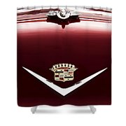 Cadillac Emblem And Hood Ornament Shower Curtain