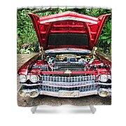 Cadillac Engine Shower Curtain