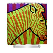 Cadmium Zebra Shower Curtain