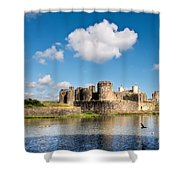 Caerphilly Castle 1 Shower Curtain
