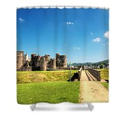Caerphilly Castle 2 Shower Curtain