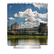 Caerphilly Castle 3 Shower Curtain