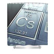 Caesium Chemical Element Shower Curtain