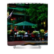 Cafe Alfresco Shower Curtain