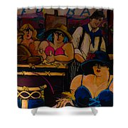 Cafe Bar In Montmartre Shower Curtain