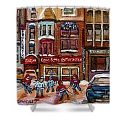 Cafe Bistro La Marinara Shower Curtain