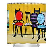 Cafe Chairs Shower Curtain