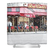 Cafe Conti Shower Curtain